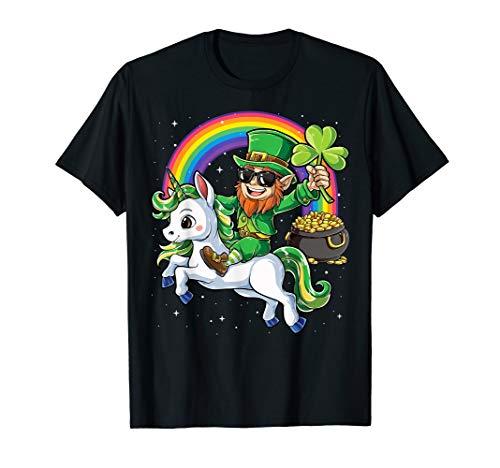 Lepricorn Leprechaun Unicorn T shirt St Patricks Day Girls