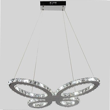 Traditional Ornate Vintage Style Shabby Chic ? Led Butterfly Shape Metal Frame Crystal Chandelier , White-110-120V