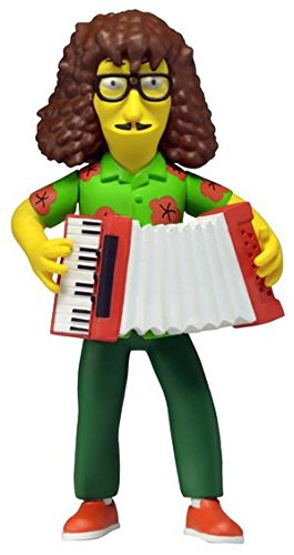 "NECA Simpsons 25th Anniversary Series 4 Weird Al 5"" Celebrity Action Figure by NECA"