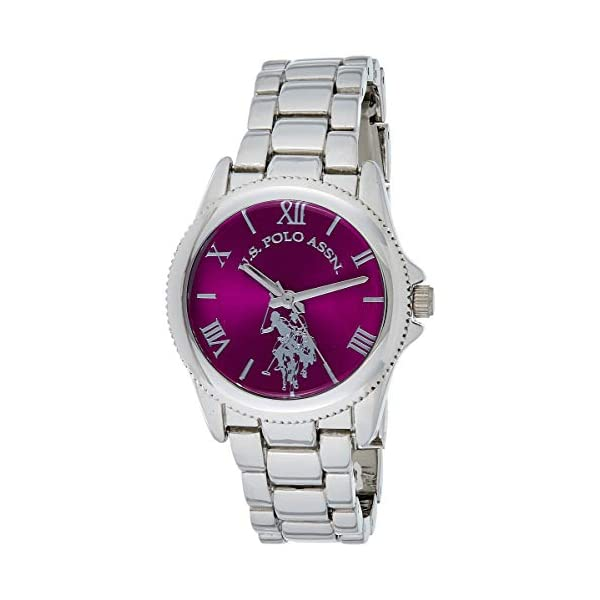 U.S. Polo Assn. Women's Analog-Quartz Watch with Alloy Strap, Silver, 14.5 (Model: USC40134) 9