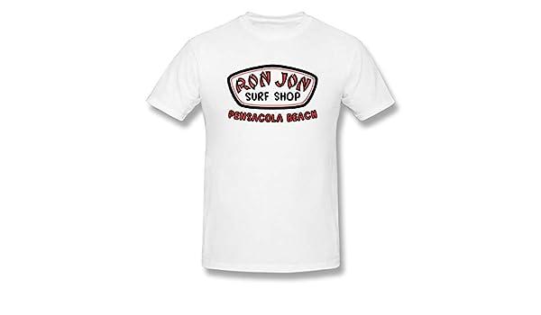 Hazelknorton Manga Corta Verano Ron Jon Surf De Los Hombres Cool Graphic White 4XL Camisetas: Amazon.es: Ropa y accesorios