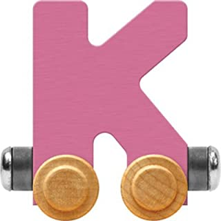product image for Maple Landmark NameTrain Pastel Letter Car K - Made in USA (Pink)