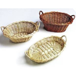 11 x 8 1/2 x 4 White Oval Willow Baskets