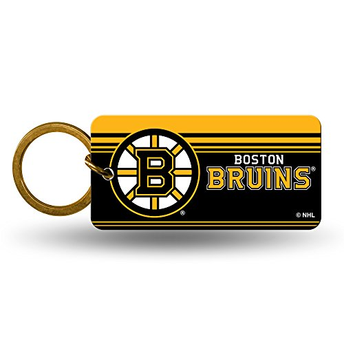 Boston Bruins Official NHL 2 inch Crystal View Key Chain Keychain by Rico Industries 382384