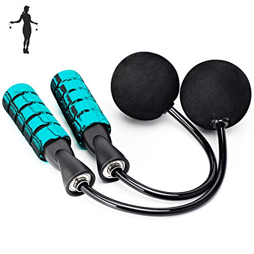 APLUGTEK Jump Rope, Weighted Ropeless Skipping Rope for Fitness, Tangle-Free Rapid Speed Cordless Jump Rope Workout for…