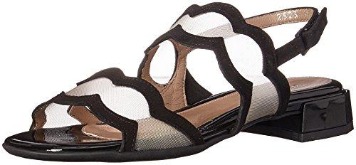 BeautiFeel Women's Glory Sandal, Black Suede/Nude Mesh, 390 M EU (8 (Beautifeel Sandals)