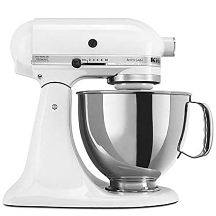 amazon com kitchenaid ksm150pswh artisan series 5 qt stand mixer rh amazon com