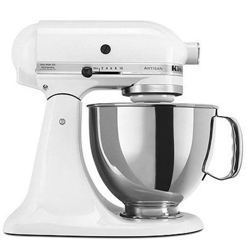 KitchenAid KSM150PSWH Artisan Series 5-Qt. Stand Mixer with Pouring Shield - White (Shield White Inc)