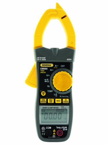 General Tools CM660 Dual Display Amp Clamp with AC/DC Amps, True RMS, Non-Contact Voltage Detector, 750V, 600A, 0.01A Resolution by General Tools (Image #2)