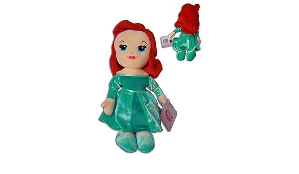Ariel 30cm Muñeco Peluche Princesa Disney Chica Pelirroja Vestido Verde Super Suave La Sirenita: Amazon.es: Juguetes y juegos