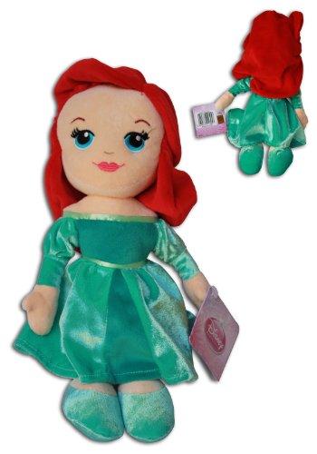 Ariel 12'' Plush Doll Disney Princess Collection Soft Toy Red Head Green Dress Little Mermaid Princess 12' Doll