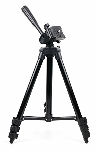 DURAGADGET 1M Extendable Portable Aluminium Tripod with Screw Mount for Canon EOS 400D Digital SLR Camera (incl. EF-S 18-55mm f/3.5-5.6 Lens Kit) & Canon EOS 10D [6MP] - Body Only