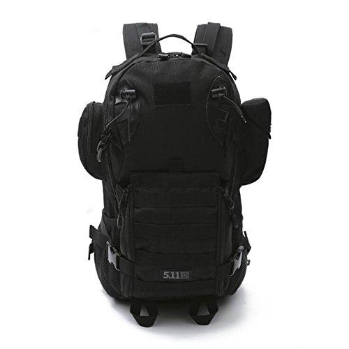 Wmshpeds Deportes al aire libre multi-funcional camuflaje mochila militar ventilador escalada senderismo bolsa 3P mochila táctica A