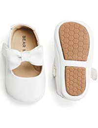 Infant Toddler Baby Moccasins Soft Sole Bowknot Baby Walking Shoes Mary Jane Dress Shoes