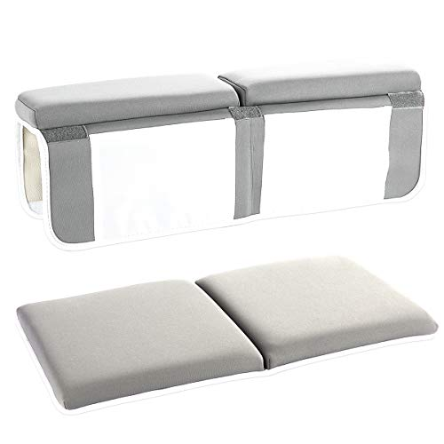 YXTY Bath Kneeler and Elbow Rest Set, Thick Baby Bath Kneeling Pad and Elbow Support, Comfort for Moms Dads to Bathe Kids Comfortably - Fits All Bathtubs(Gray)
