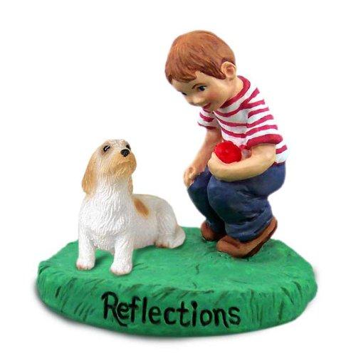 Conversation Concepts Petit Basset Griffon Vendeen Reflections w/Boy Figurine ()