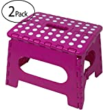 Minel Folding Step Stool 2 Pack - PINK