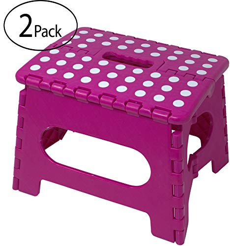Minel Folding Step Stool 2 Pack - PINK by Minel