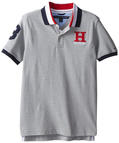 Tommy Hilfiger Toddler Boys' Short Sleeve Matt Polo Shirt, Grey Heather, 2 -