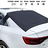 Fullive Rear Windscreen Snow Cover, Anti Foil Ice Dust Sun Windshield Frost Covers & Sun Shade Protector for Vehicle Rear Windshield