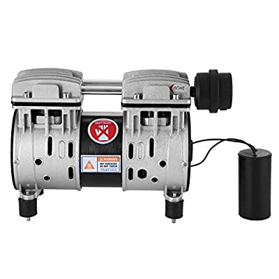 Happybuy Coin Operated Compressor 550W Aluminum Thomas Compressor Vacuum Pump Oil-less piston compressor Replacement Accessories