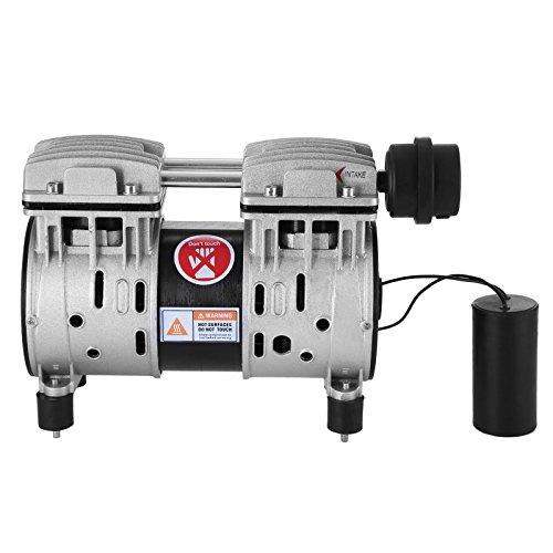 Happybuy 4CFM Vacuum Pump 550W Horizontal Vacuum Pump Hausfeld Quiet Air Machine Gas/Pump Oil-less 50-150PSI Vacuum Pump Air Compressor Replacement Accessories for Tire Inflator