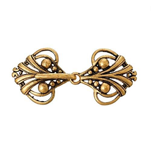 Laliva Copper Toggle Clasps Heart Golden Tone 4.6cm x2.1cm(1 6/8