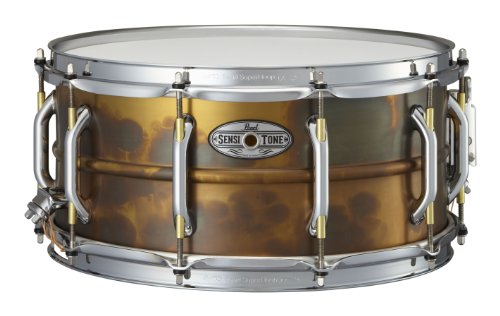 Pearl STA1465FB 14 x 6.5 Inches Sensitone Premium Snare Drum - Beaded (Beaded Brass Snare)