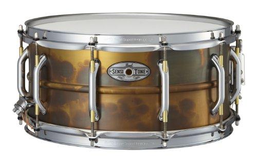 Pearl STA1465FB 14 x 6.5 Inches Sensitone Premium Snare Drum - Beaded Brass ()