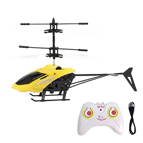 RC Helicopter,RC 901 2CH Flying Mini RC Infraed Induction Helicopter Flashing Light Toys By Dacawin (Yellow)