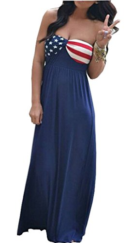 Summer Dress Long Women flag BOHO Dresses American Dress Evening Party Maxi Beach dPwAawZx