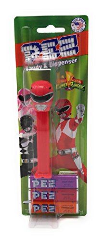 Mighty Morphin Power Rangers Pez with Candy Refills Red (Power Rangers Outfit)