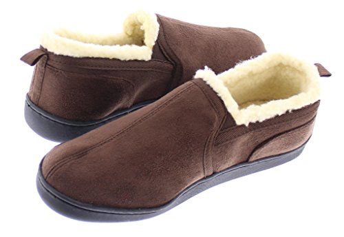 Moccasins Foam Gold Mens Men Slippers Shoes Toe Indoor Outdoor Memory Chocolate Fur House Loafers YZZTwqx