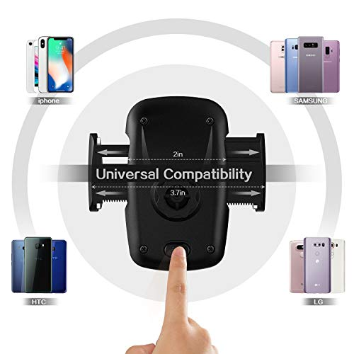 Car Phone Holder 3-in- 1 Car Mount for Windshield, Dashboard, Air Vent – 360° Rotatable Universal Cell Phone Mount for iPhone, Samsung, More – Hands Free Dash Mount Mobile Phone Holder for Car by I&F by I & F (Image #3)