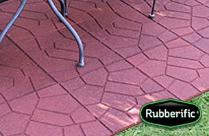 International Mulch Rubberific 16 in.Grey Dualside Paver44; 10 Pack