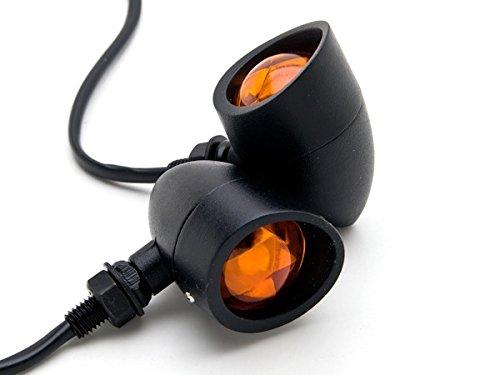 Black Custom Motor Turn Signals Bulbs Blinkers Amber Indicators Turn Signals Lights Fit For Harley Davidson XL Sportster 1200 Custom