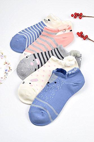2019超人気 Generic B01N4M2LDK Generic 5ペアのソックスBoxed靴下韓国レディースガールズLady綿浅い口に役立つlow-boatソックスCartoon Socks Socks ShortチューブソックスInvisible Woman B01N4M2LDK, ネイル.アクセサリ Buddy Style:3a40a811 --- domaska.lt
