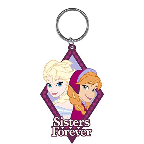 Frozen Sisters Forever Elsa Anna Laser Cut Keychain 3 1/2