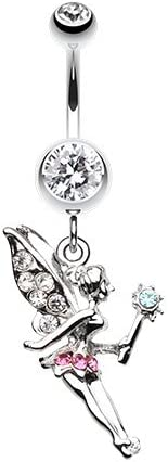 Magical Fairy 316L Surgical Steel Belly Button Ring Clear