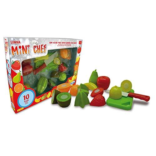 Mini Chef Frutas 10 Peças, Xalingo, Multicolorido, Pequeno
