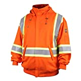 Revco/Black Stallion TruGuard™ 200 FR Cotton Hooded (Safety Orange) Sweatshirt, Reflectives 2XL