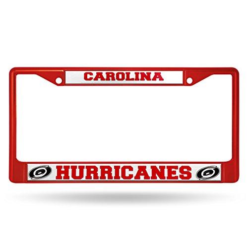 Rico Industries NHL Carolina Hurricanes Team Colored Chrome License Plate Frame, Red