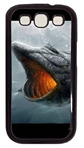 3D Mechanical Giant Shark PC Case Cover For Samsung Galaxy S3 SIII I9300 Black