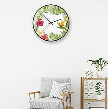 Relojes para Sala de Estar Moderno Reloj de Pared de Arte nórdico Garland Reloj Decorativo Dormitorio