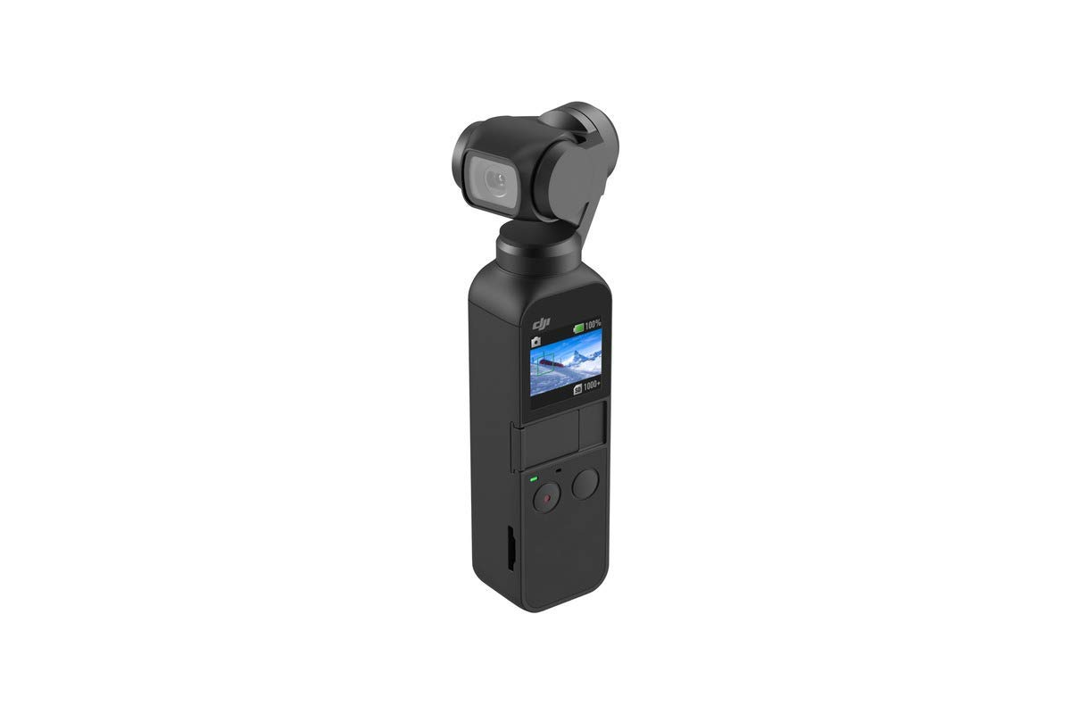 DJI Osmo Pocket Handheld 3 Axis Gimbal Stabilizer with integrated Camera, Attachable to Smartphone, Android (USB-C), iPhone by DJI
