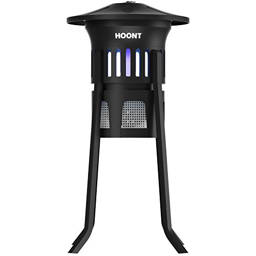 Hoont Mosquito Killer and Gnat Fly Trap Killer by, Indoor Outdoor Mosquito Trap Control with Stand - Bright UV Light and Fan/Exterminate Mosquitoes, Wasps, Etc. - Perfect for Patio, Gardens, etc.