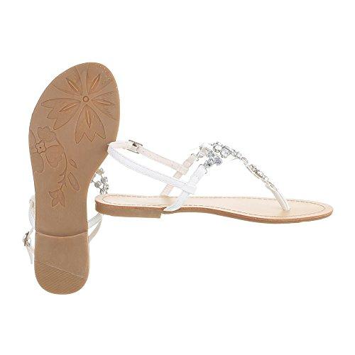Ital-Design - Zapatos con tacón Mujer Weiß N1175-2