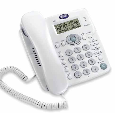 AT&T 1855 Corded Telephone with Digital Answering System and (Advanced American Telephone Speakerphone)