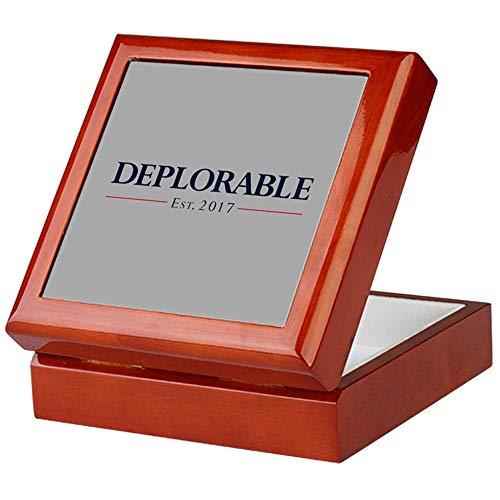CafePress Deplorable Est 2017 Keepsake Box, Finished Hardwood Jewelry Box, Velvet Lined Memento Box]()