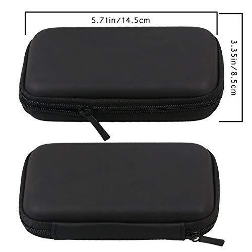 """Portable 2.5"""" Hard Disk Drives HDD Protective Bag Shockproof Zipper Case (Black)"""